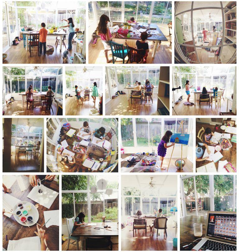 Amy Schuff - Sunroom Homeschool Room