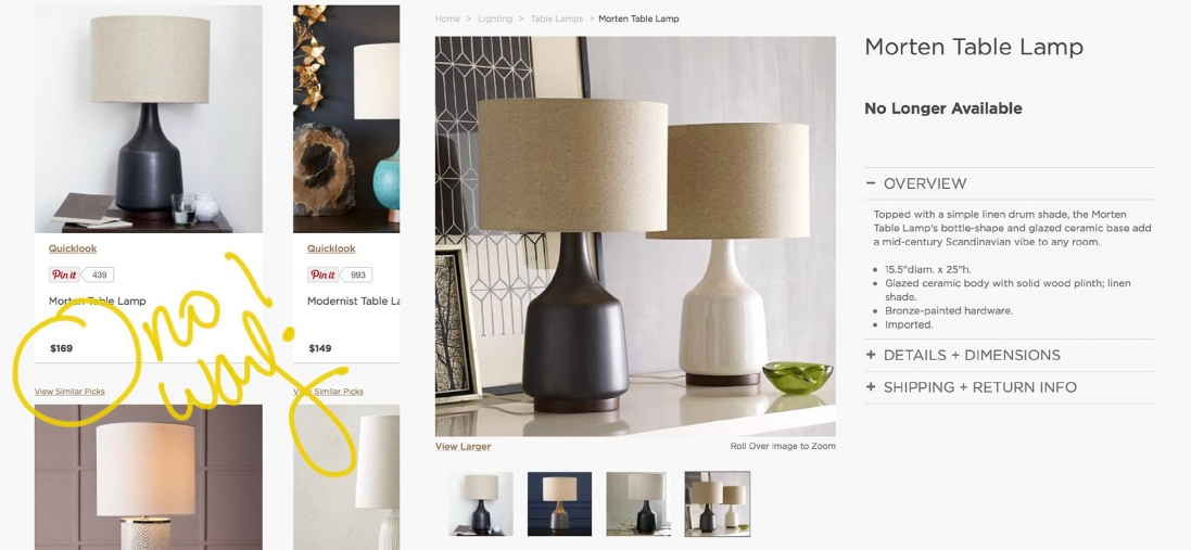 West Elm Morten Table Lamp